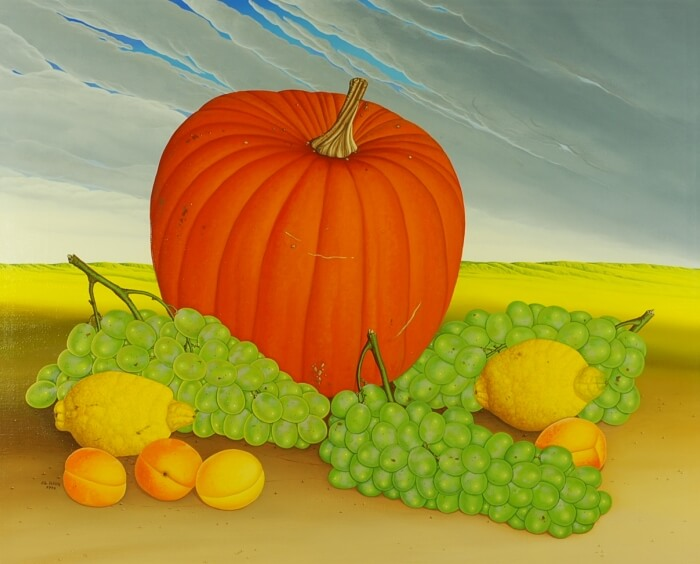 Still life withe pumpkin