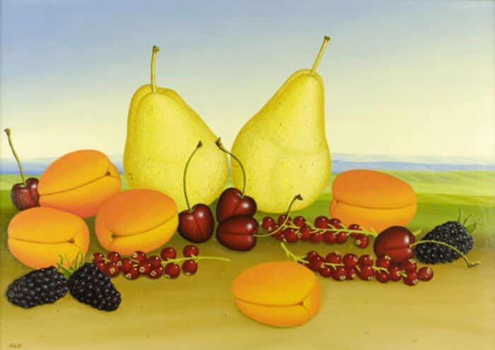 Nature morte des fruits
